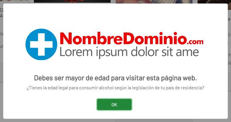Limitador de acceso a la web bajo responsabilidad.